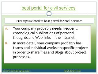 PPT About Best portal for civil services
