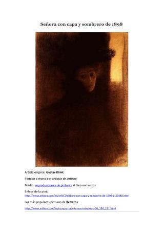 Señora con capa y sombrero de 1898 -- Artisoo