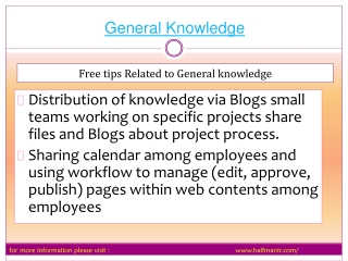 The website for general knowledge