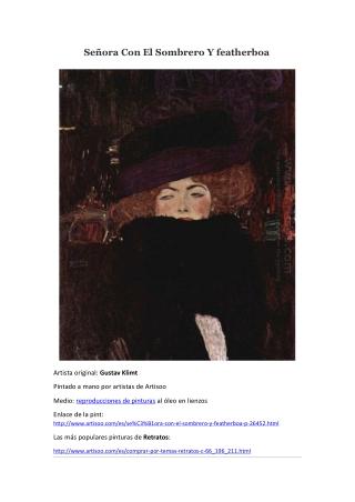 Señora Con El Sombrero Y featherboa -- Artisoo