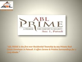 ABL Plots Pataudi ABL Prime in Pataudi 7838334455