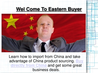 Buy from China direct