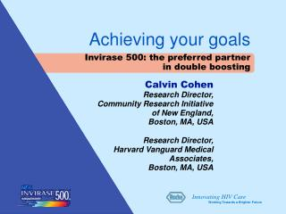 Calvin Cohen Research Director,  Community Research Initiative of New England,  Boston, MA, USA Research Director, Harva