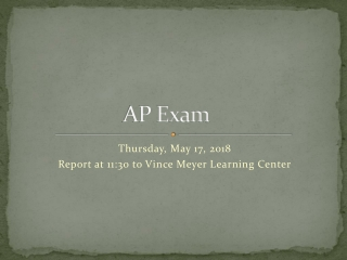 Terms to Review for AP Exam