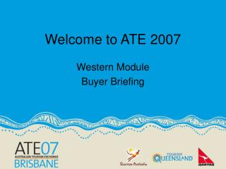 Welcome to ATE 2007
