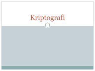Kriptografi