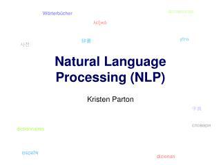 Natural Language Processing NLP