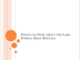Rent Jet Skis Lake Powell