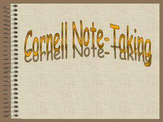 Topic:Cornell Notes Aim: How should I take notes in class