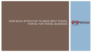 How much Effective to Make Best Travel Portal for Travel Bus