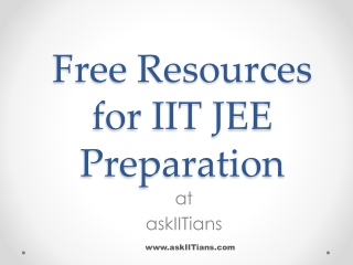 Free Resources for IIT JEE Preparation
