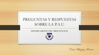 FAQ PAU