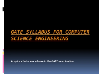 GATE Syllabus for Computer Science Engineering