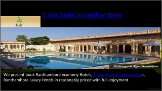 3 star hotel in ranthambore