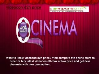 videocon d2h price