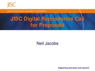 JISC Digital Repositories Call for Proposals