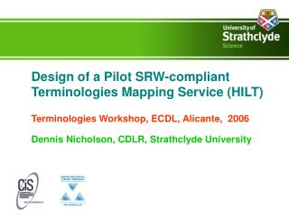 Design of a Pilot SRW-compliant Terminologies Mapping Service HILT