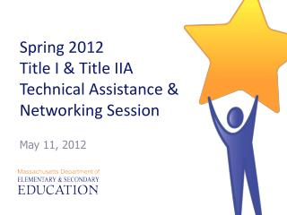 Spring 2012  Title I  Title IIA Technical Assistance  Networking Session