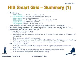 HIS Smart Grid   Summary 1