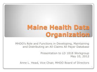 Maine Health Data Organization