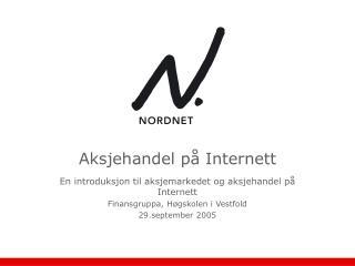 Aksjehandel p  Internett
