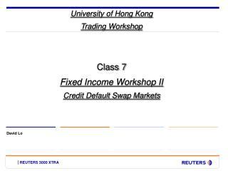 University of Hong Kong Trading Workshop