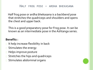 How To Do A Half Frog Pose