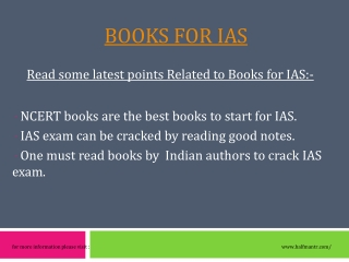 Best information about Books for IAS