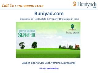 Jaypee Group New Launch Aman 3 Yamuna Expressway- 9999011115