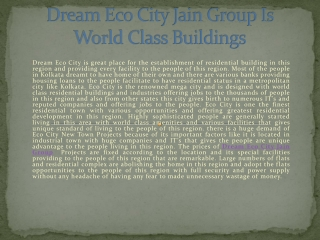 Dream Eco City Jain Group