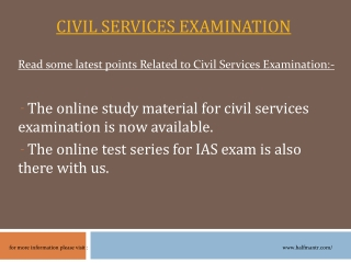 The online study material for Civil Services Examination