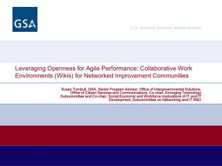 Leveraging Openness for Agile Performance: Collaborative Work Environments Wikis for Networked Improvement Communities