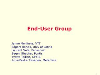 End-User Group