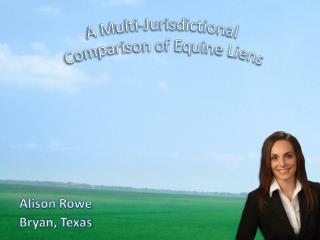 Alison Rowe    Bryan, Texas