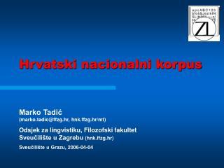 Hrvatski nacionalni korpus