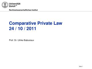 Comparative Private Law 24