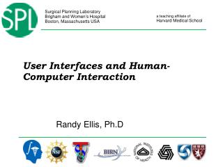User Interfaces and Human-Computer Interaction