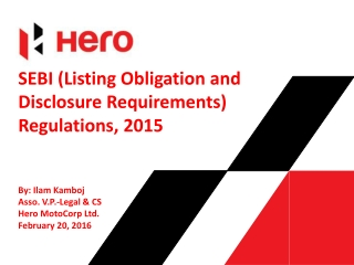 Session-IIIIV Legal and regulatory framework   discussion on salient provisions relating to corporate governance in Comp