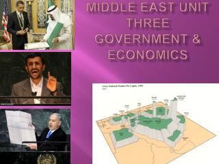 Middle East Unit Three Government  Economics