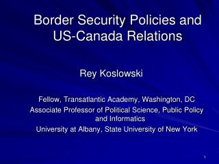 Border Security Policies and US-Canada Relations