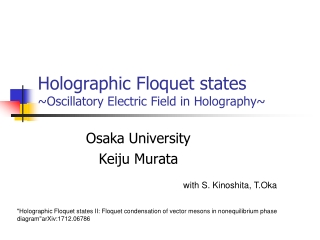 A Study on holographic