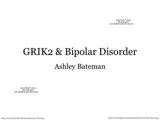 GRIK2  Bipolar Disorder