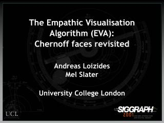 The Empathic Visualisation Algorithm EVA:  Chernoff faces revisited