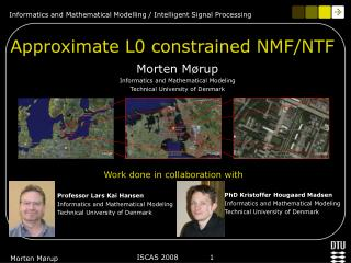 Approximate L0 constrained NMF