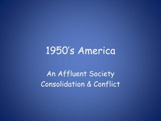 1950 s America