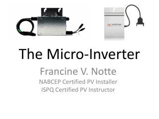 The Micro-Inverter