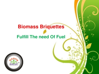 Briquette Plant Fulfill The Need Of Fual