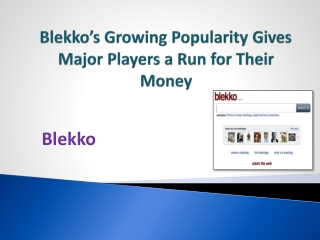 Blekko's Growing Popularity Gives Major Players a Run for Their Money