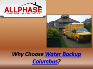 Water Backup Columbus