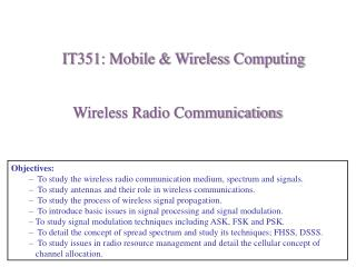 Wireless Radio Communications